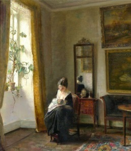 Carl Vilhelm Holsøe (Danish; 1863-1935)_www.kaifineart.com-04_Motherhood 1_Cropped