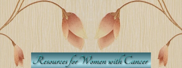 Floral Peachy Header with Teal Resources for Women with Cancer 2