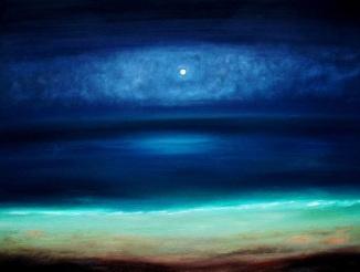 Midnight Sky & Aqua Beach