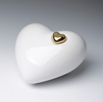 Porcelain Heart_with Small Gold Heart